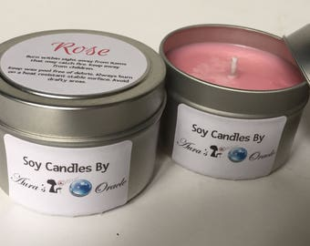 Rose 4oz Soy Candle