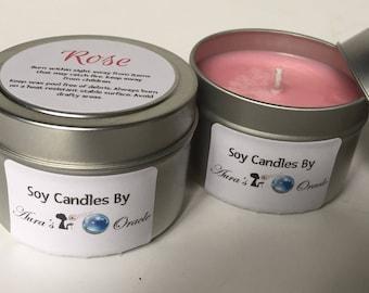 Rose 4oz Soy Candle