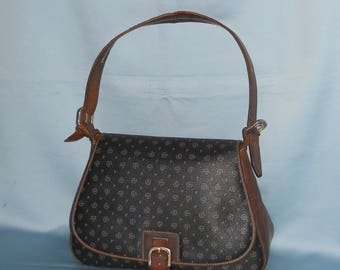 Authentic vintage Pollini bag! Canvas and genuine leather!