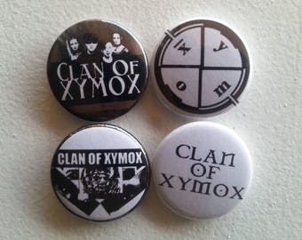 4 x Clan of Xymox 1'' Pin Button Badges ( dutch rock electronic gothic )