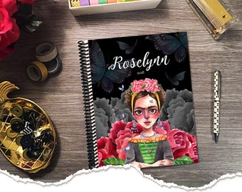 Small Size -  Horizontal Monthly & Weekly Planner - Frida - 1 Year Planner 2017 - 2018