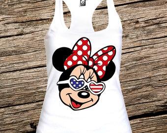 Disney sunglasses tank top, Disney tank, Minnie mouse sunglasses tank, Disney tank tops for women, Disney tanks for women, disney women tank