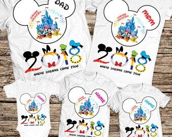 Family disney world shirts 2018, Disney Family Shirts, Matching Family Disney Shirts, Personalized Disney Shirts for Family and Women 2018