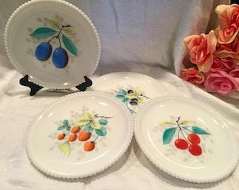 Vintage Westmoreland Milk Glass sandwich or salad plates