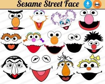 graphic about Sesame Street Printable Faces known as Sesame road confront : Alka seltzer primary component