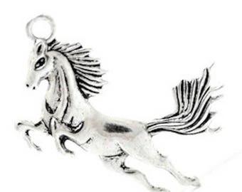 2 large pendants charm pendants charm horse 51 x 43 mm