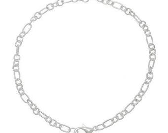 6 light 20 cm silver chain bracelets