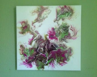 Original Fluid  Acrylic Painting