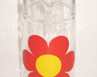 Vintage 70s glass jug for juice