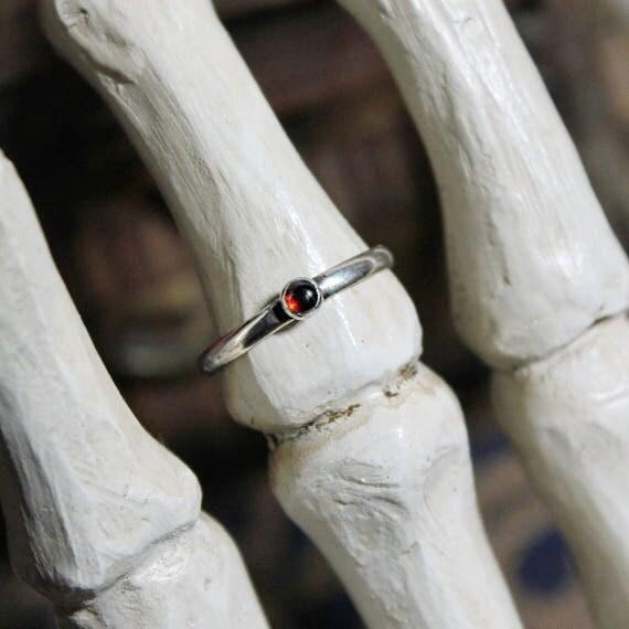 Garnet Stacker Ring / Garnet Stacker / Garnet Ring / Silver Stacker Ring / Stacking Ring / Garnet / Womans Ring / Minimalist Ring