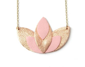 Pia necklace rose gold and pink