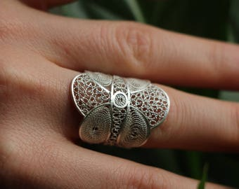 """""""Stained glass from my Miraille"""" filigree ring"""