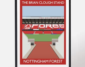 The Brian Clough Stand; Nottingham Forest
