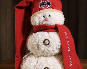Ohio State Buckeyes Snowman