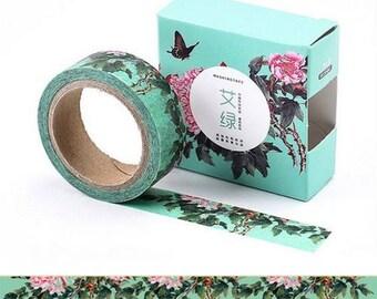 Washi Tape, Masking Tape, masking tape scrapbooking Flower Pink