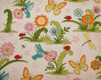 Fabric patchwork/decorating happy garden