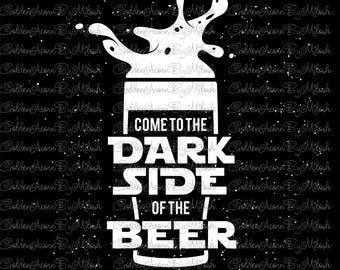 Beer Svg Star Wars style Dxf Png Eps Files vector beer mug illustration print digital download cutting file