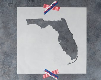 Florida State Stencil - Hand Drawn Reusable Mylar Stencil Template