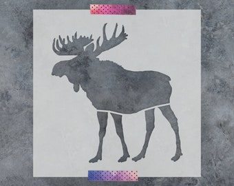 Moose Stencil - Reusable DIY Craft Stencils of a Moose