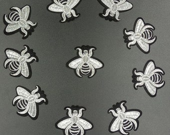 10PCS/LOT mini Bee patch Embroidery sew on iron on patch Decoration Accessories Embroidered patch  no.140