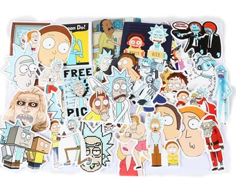 35-Pcs Rick and Morty Sticker Bomb Decal Graffiti Car Skateboard Laptop Luggage Creative Unique