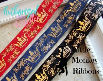 Gold Crowns, 7/8 Grosgrain Ribbon. Princess crowns, fairytale