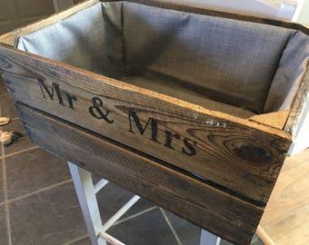 Wedding gift, Wedding decorations, Rustic Crate, Wedding Crates, Apple Crates, Personalised Wedding Gift, Wedding decorations rustic, gift