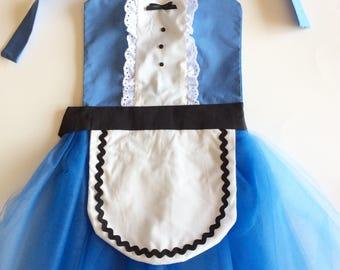 ALICE IN WONDERLAND Apron Tutu Dress Up Apron or Dress Up Costume Disney Inspired