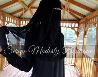 Niqab Two Layer Tie Back