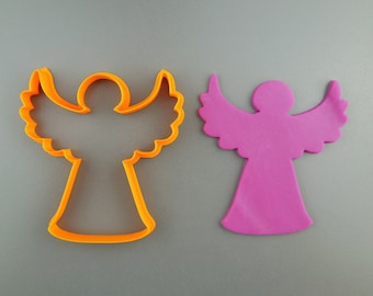 Angel Cookie Cutter 3D Printed Angel Christmas Cookie and Fondant Cutter - Gift for Bakers
