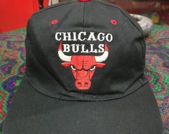 Vintage Chicago Bull trucker strap