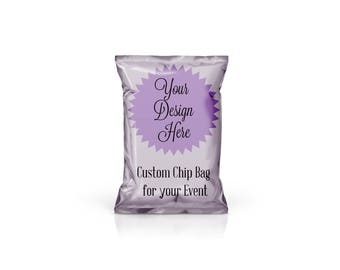 Custom Chip Bag - Treat Bag - Favor Bag - Without Picture - Personalized