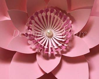 Paper flower center style#2 - Set of 12