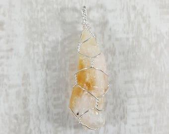 CITRINE Handmade Wire Wrapped Pendant