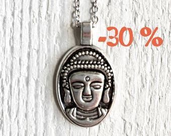 SUMMER SALE / / / Buddha necklace in silver