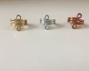 Twirl wire rings!