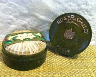 Vintage France Roger & Gallet Parfumery Soap Box Paris