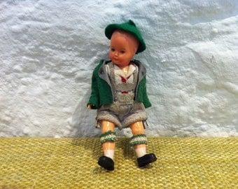 Vintage Little boy bavaria costume dress doll dollhouse figure accessoires