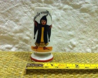 Vintage Dollhouse Souvenier Porcelain Munich Bavaria Munich Kindl Vase Miniature
