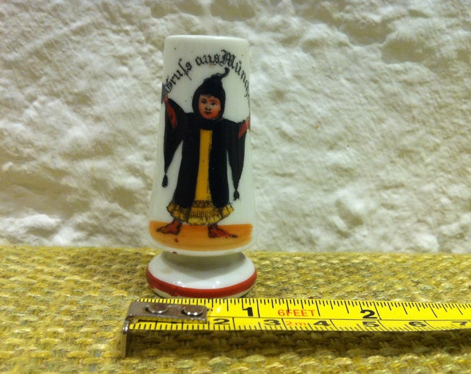 Vintage Dollhouse Souvenier Porcelain Munich Bavaria Munich Kindl Vase Miniature