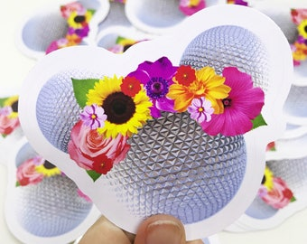 Epcot Flower and Garden Mickey Head Vinyl Decal