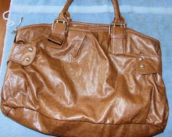 Vintage Brown Faux Leather Purse/Handbag