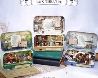 Miniature DIY Box Theatre Enchanted Dollhouse | Eatser Present,miniatures,dollhouse,dollhouse miniatures,miniature dollhouse