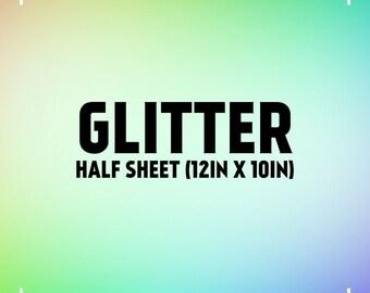 12in x 10in Glitter Heat Transfer Vinyl Sheets