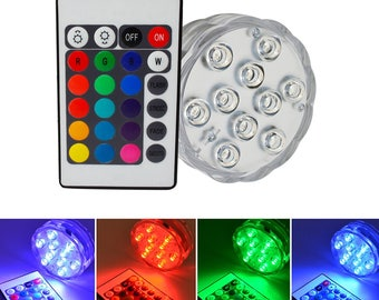 10 led submersible led light for wedding centerpiece with remote