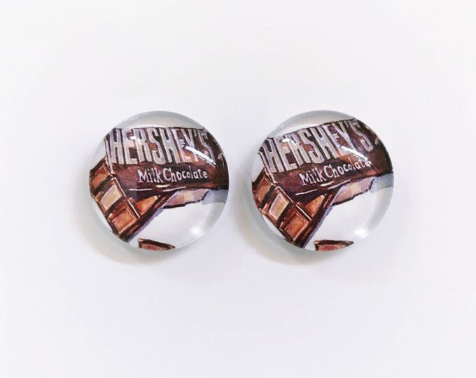 The 'Hershey's' Glass Earring Studs