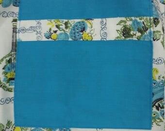 Vintage blue apron