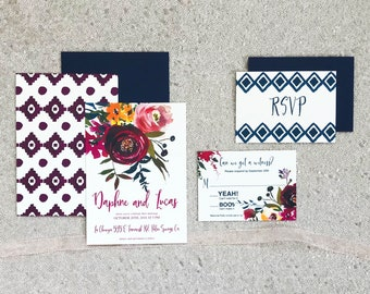 The Daphne Collection—Six-Piece Wedding Invitation Suite (Pack of 10)