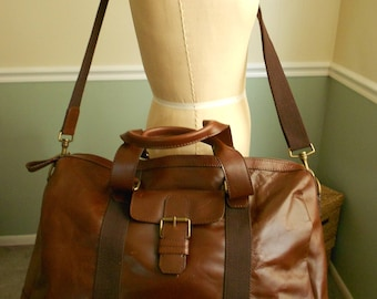 Travel Bag / Leahter Duffle Bag / Weekender Bag / Overnight Bag