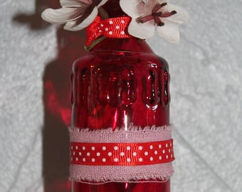Pretty red style and decorative bottle